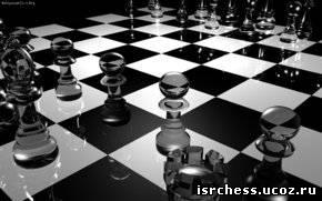 Шахматные обои для компьютера в чёрно-белых тонах